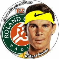 Pin Rafael Nadal Rolland Garros 12 Men's Singles Titles - Tenis