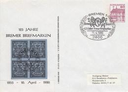 PU 115/41a  125 Jahre Bremer Briefmarken 1855 - 1980, Bremen 1 - BRD