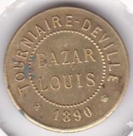 30. Gard. Pont-Saint-Esprit. Bazar Louis, Tourniaire-Deville. 10 Sous 1890, En Laiton - Monetary / Of Necessity