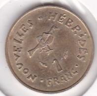 Nouvelles - Hébrides 1 Francs 1975 En Bronze Alu Nickel - Vanuatu