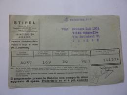 """Documento Viaggiato """"S.T.I.P.E.L. Milano"""" 1949 - 6. 1946-.. Repubblica"""