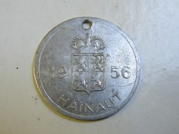Méd. 37. Médaille De Taxe Pour Chien De 1956 En Hainaut - Professionnels / De Société