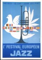 Antibes - La Cap - Juan Les Pins : 1er Festival Européen Du Jazz - Publicité