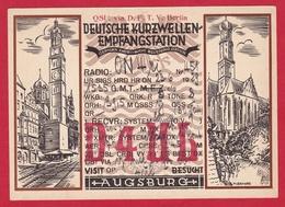 CARTE RADIO AMATEUR – D4UL – Augsburg, Germany 1929 - Amateurfunk