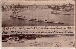 POLOGNE POLAND ESKADRA FLOTY POLSKIEJ W SZTOKHOLM W 1932r PC - Polen
