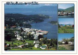 1 AK Norwegen * Ansichten Von Skånevik - Dabei Auch Eine Luftbildaufnahme * - Norwegen