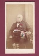 090619B - PHOTO CDV ANCIENNE 21 IS SUR TILLE Monsieur ROGER Maire  Médaille Politique - Photographe JULES LESTERLIN - Is Sur Tille