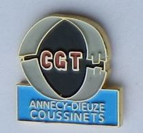 SYd2 Pin's Syndicat CGT Annecy Dieuze Coussinets Haute Savoie Moselle - Administrations