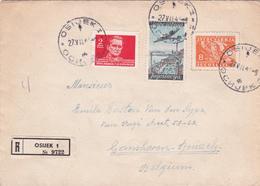 Lettre Yougoslavie - Recommandé - Timbres N° 425 + 481 + PA 19B - Luftpost