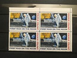 FRANCOBOLLI STAMPS U.S.A. STATI UNITI 1969 MNH** NUOVI AIR MAIL FIRST MAN ON THE MOON UNITED STATES QUARTINA - Stati Uniti