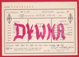 CARTE RADIO AMATEUR – D4WHA – Pomerania, Germany 1930 - Amateurfunk