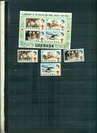 GRENADA 100 CROIX ROUGE BRITANNIQUE 4 VAL + BF NEUFS A PARTIR DE 0.75 EUROS - Grenada (...-1974)