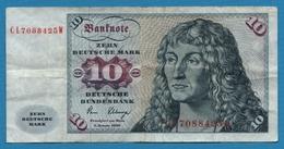 DEUTSCHLAND  10 Deutsche Mark  02.01.1980 Serie # CL7088425W  P# 31d - [ 6] 1949-1990 : GDR - German Dem. Rep.