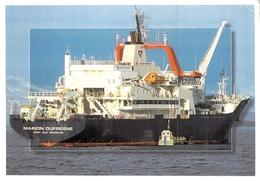 """C P S M Postèe à Bord  Bateaux > Recherche C G M """" Marion Dufresne """"1973 Le Havre Terres Australes Et Antartiques - Commercio"""