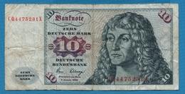 DEUTSCHLAND  10 Deutsche Mark  02.01.1980 Serie # CQ4475231X  P# 31d - [ 6] 1949-1990 : GDR - German Dem. Rep.