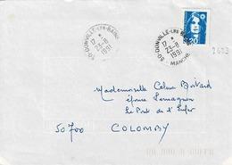 TP N ° 2623 Seul  Sur Enveloppe De Donville Les Bains - Postmark Collection (Covers)