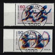 BERLIN - Komplettsatz Mi-Nr. 596 - 597 Sporthilfe Staffellauf Bogenschießen Gestempelt (4) - Berlin (West)