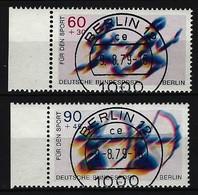 BERLIN - Komplettsatz Mi-Nr. 596 - 597 Sporthilfe Staffellauf Bogenschießen Gestempelt (5) - Berlin (West)