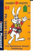 AUSTRALIA $2 RABBIT CARTOON PHOTO SERVICE  NOT FOR SALE AUS-649 SPECIAL PRICE READ DESCRIPTION !! - Australie