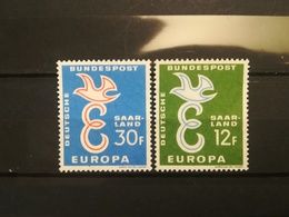 FRANCOBOLLI STAMPS GERMANIA DEUTSCHE SAAR 1958 MNH** NUOVI SERIE COMPLETA EUROPA GERMANY - 1957-59 Federazione
