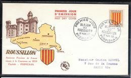 FDC 1955 - 1046 Armoiries De Provinces: Rousillon - 1950-1959