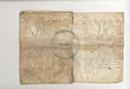 /!\ 1273 - Rare - Parchemin Du 17ème Siècle : 1645 - Manuscritos