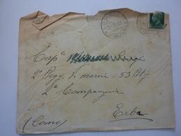 """Busta Viaggiata """"Cap. Maggiore 2° Regg. Di Marcia 53 Batt. 2° Compagnia ERBA ( Como )"""" 1942 - Marcophilia"""