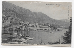 MONTE CARLO - N° 718 - VUE GENERALE - LE PORT - PETITE COUPURE BAS A DROITE - CPA  VOYAGEE - Harbor