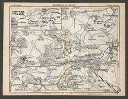 CARTE PLAN 1928 - MOYENS D'ACCES ENVIRONS DE LAGNY THORIGNY CHELLES MONTEVRAIN CHARMENTRAY LE PIN FRESNES - Carte Topografiche