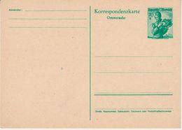 Österreich - 70g Trachten Ganzsache Ortsverkehr Ausgabe 1951 Ungebraucht - Stamped Stationery