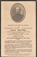 Faire-part De Décès De 14-18, Capitaine Comte Bruyère Du 1er D'infanterie, Tué à La Bataille De Guise En Août 1914 - Obituary Notices