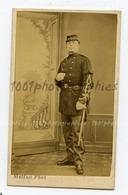 CDV Clément Malfait Photographie, Dunkerque. Portrait D'un Militaire. Identification Et Annotations Au Dos, - Non Classés