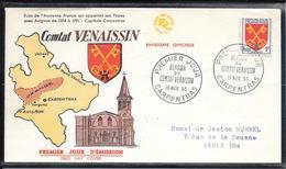 FDC 1955 - 1047 Armoiries De Provinces: Comtat Venaissin - 1950-1959