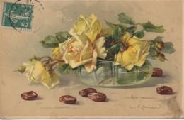 Illustrateur KLEIN Roses Jaunes Dans Une Coupe - Klein, Catharina