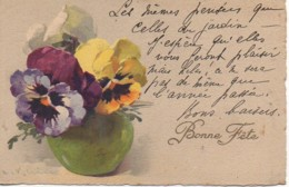 Illustrateur KLEIN  Bouquet De Pensées Dans Un Vase - Klein, Catharina