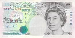 Five Pounds England 1990 AU/EF (II) - 1952-… : Elizabeth II