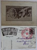 WWI Carte Lettre Honneur Aux Alliés Tampon Croix Rouge Hôpital Militaire 222 Menton 1916 1 Régiment De Marche D'Afrique - Weltkrieg 1914-18