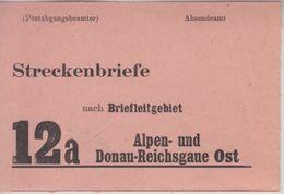 DR - 12a Alpen- Und Donau-Reichsgaue Ost Leitzettel Ca. 1944/45 Ca. 10x7 Cm - Deutschland
