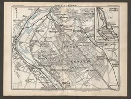 CARTE PLAN 1928 - MOYENS D'ACCES FORET DE SENARD ETIOLLES CROSNES QUINCY VIGNEUX YERRES CHAMPROSAY - Topographical Maps