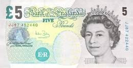 Five Pounds England 2002 AU/EF (II) - 1952-… : Elizabeth II.