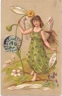 CP - Art Nouveau - Femme Fille Papillon - Meisje Als Vlinder - - Cartes Postales