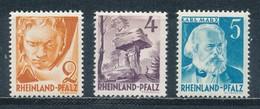 Französische Zone Rheinland-Pfalz 32 + 33 + 34 ** Mi. 3,- - Zona Francese