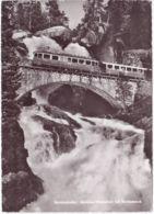 Bernina-Bahn, Brücke, Wasserfall, Morteratsch - GR Grisons