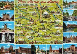 1 MAP Of Germany * 1 Ansichtskarte Mit Der Landkarte - Von Land Zu Land - Die Hollandlinie * - Landkarten