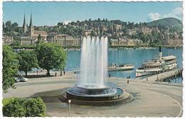 Luzern - Wagenbachbrunnen Und Hofkirche - Dampfer & Salonboot - LU Lucerne