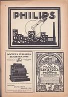(pagine-pages)PUBBLICITA' PHILIPS+SANTA FOSCA   Le Vied'italia1928/05. - Libri, Riviste, Fumetti