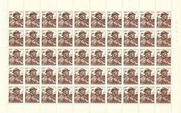 1949.- ESSAY DE TIMBRE. FEUILLE COMPLETE 50 UDS. NH. RARE - Ensayos & Reimpresiones