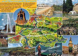 1 Map Of Germany * 1 Ansichtskarte Mit Der Landkarte - Das Weserbergland * - Landkarten