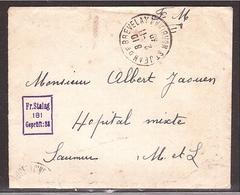 Fr. Stalag Cachet Sur Enveloppe En Franchise Morbihan 2-11-40 - Marcophilie (Lettres)