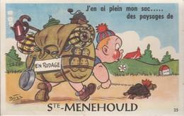 Sainte-Menehould (Marne) -  Carte à Système - Sainte-Menehould